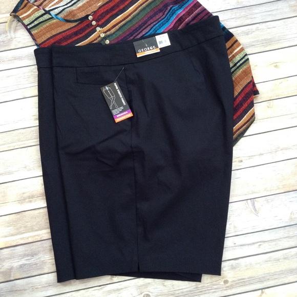57e65d4741030 George women s plus super stretch bermuda shorts